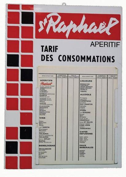 SAINT-RAPHAËL Tôle lithographiée publicitaire...