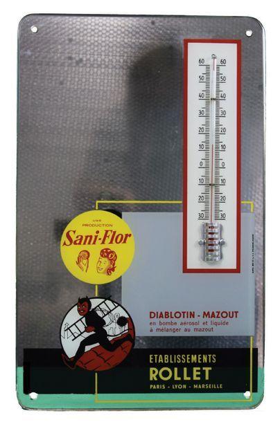SANI-FLOR et DIABLOTIN Miroir publicitaire...