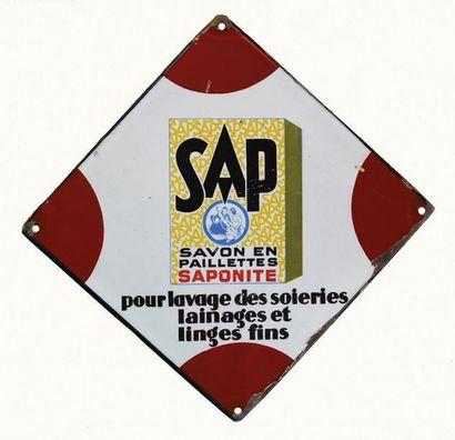SAP Petite plaque émaillée pour le savon...