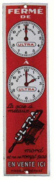 SCIE ULTRA Plaque de propreté émaillée pour...