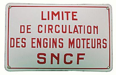 SNCF Panonceau émaillé de limite de circulation...