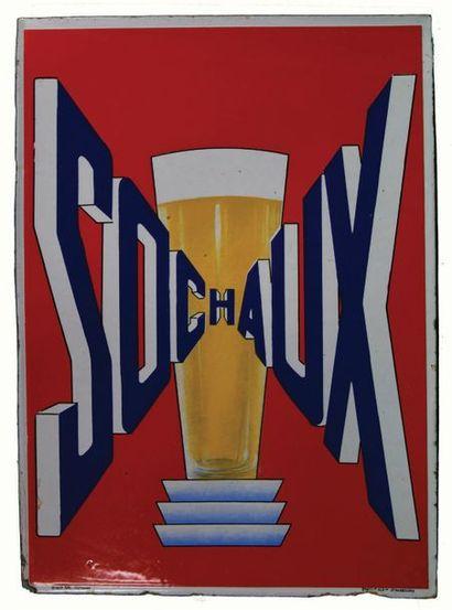 SOCHAUX Plaque émaillée pour la bière Sochaux....