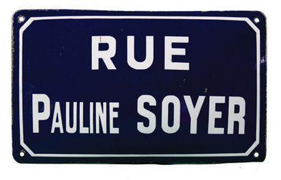 SOYER Marie-Pauline Plaque nominative de...