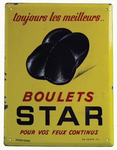 STAR Plaque émaillée pour des boulets de...
