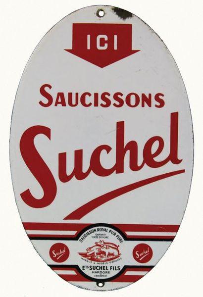 SUCHEL Plaque émaillée pour les saucissons...