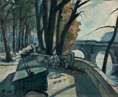 Ecole française circa 1950 Le Pont Neuf, circa 1950 Oil on canvas, signed below left...