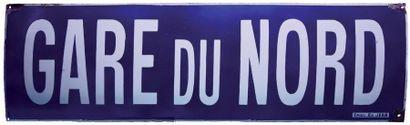 RARE PLAQUE NOMINATIVE DE QUAI DE LA STATION...