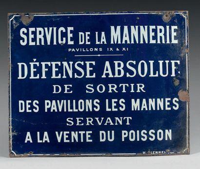 PLAQUE D'INFORMATION DU SERVICE DE LA MANNERIE...