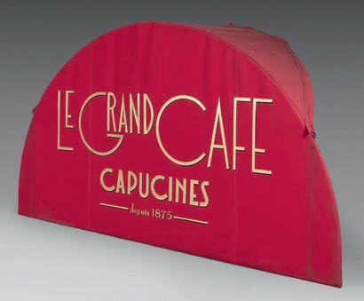 DAIS D'ENTRÉE DU LAMBREQUIN DU GRAND CAFÉ...