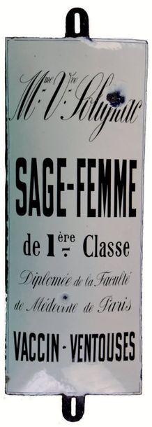 PLAQUE PUBLICITAIRE DE SAGE-FEMME DE PREMIÈRE...
