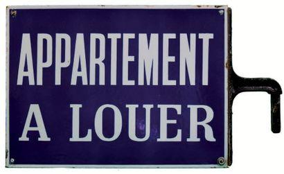 PLAQUE D'APPARTEMENT À LOUER Fer émaillé,...