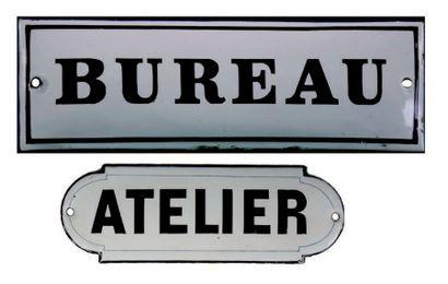 PLAQUE DE SIGNALÉTIQUE POUR BUREAU Fer émaillé,...