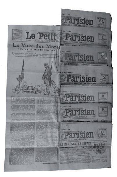 LE PETIT PARISIEN Sept numéros du Journal,...