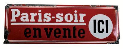 BANDEAU PUBLICITAIRE DU JOURNAL PARIS-SOIR...