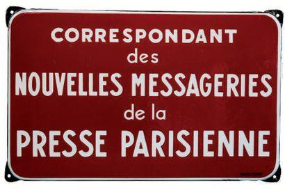 PLAQUE PUBLICITAIRE DE CORRESPONDANT DES...
