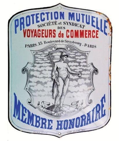 PLAQUE PUBLICITAIRE DE LA PROTECTION MUTUELLE...