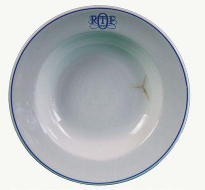 ORTF Assiette Faïence, de forme circulaire,...