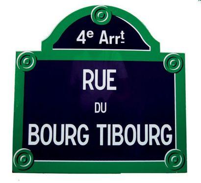 PLAQUE NOMINATIVE DE LA RUE DU BOURG TIBOURG,...