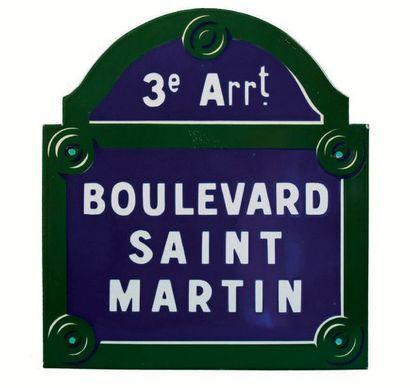 PLAQUE NOMINATIVE DU BOULEVARD SAINT-MARTIN,...