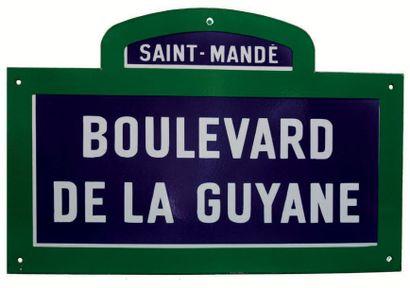 PLAQUE NOMINATIVE DU BOULEVARD DE LA GUYANE,...