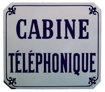 PLAQUE DE SIGNALISATION DE CABINE TÉLÉPHONIQUE...