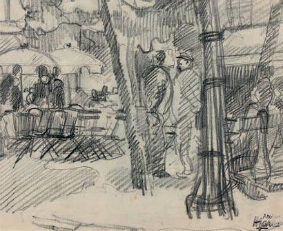 RENÉ-EMMANUEL MARCA (1893-1962) Réunion de dessins au crayon, au fusain, à l'aquarelle,...