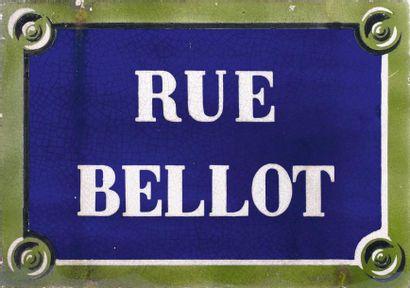 Plaque signalétique de la rue « Bellot »...