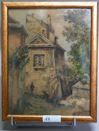 GEORGES TIRET-BOGNET (1855-1935)  Montmartre,...