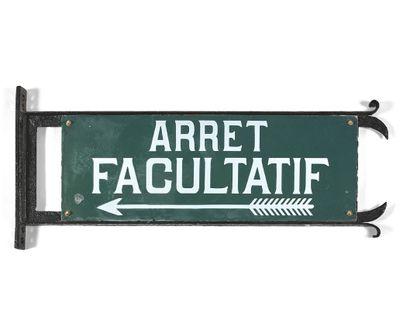 ARRÊT D'AUTOCAR  Deux plaques rectangulaires...