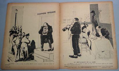 """集体。吃饭的巴黎。""""L'Assiette au Beurre"""", n° 228 of August 12, 1905.罕见的问题,由André Triou用幽默的图片进行说明。..."""