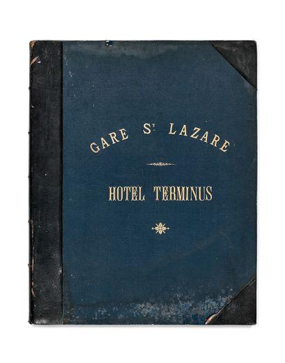 佚名。Gare Saint-Lazare, Hotel Terminus.画册为平面,半皮布装订(71.3...