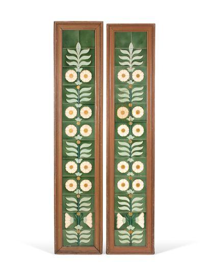 """埃米尔-赫特雷(1870-1930) - 儒勒-卡西米尔-维尔霍斯基(1875-1961)  餐馆 """"LA FERMETTE MARBEUF """"的内部装饰,包括:..."""