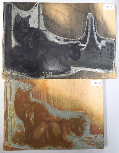 ANDRÉ MARGAT (1903-1999)  Chats, la Tour...