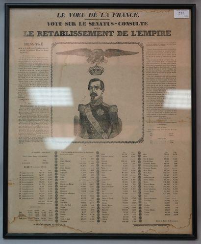 AFFICHE DE PROPAGANDE  Le voeu de la France...
