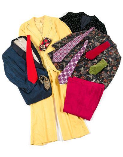 杰恩-康斯坦丁衣橱里的28条领带系列  丝绸、棉、天鹅绒,包括Christian...