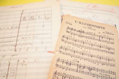 让-康斯坦丁 (1923-1997)  所有乐器的原始手写安排的总谱  的歌曲
