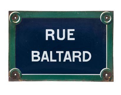 PARISIAN NAMEPLATE OF THE RUE BALTARD, PARIS...