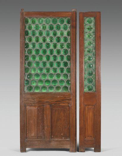 FOUR PARISIAN RESTAURANT DORMERS  Wood, decorated...