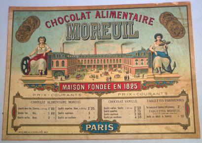 RASPAIL, LIQUOR, PARIS  Affichette lithographiée en couleur, collée sur carton,...