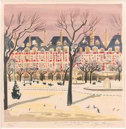 YVES BRAYER (1907-1990)  Paris, place des...