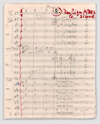 让-康斯坦丁 (1923-1997)  的亲笔音乐手稿  歌曲
