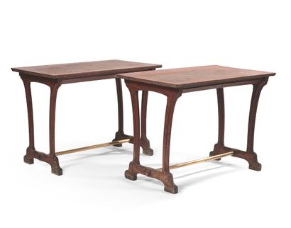 PAIR OF TABLES FOR THE RESTAURANT OF THE...