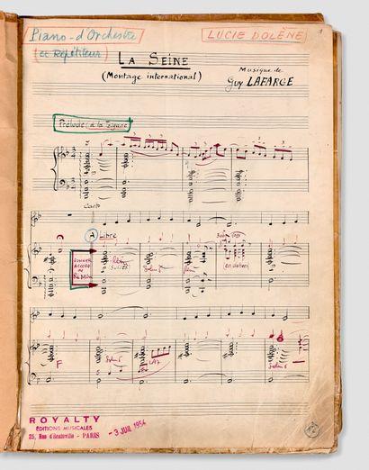 歌曲《塞纳河》的框架文件,来自Lucie Dolène的国际巡回演唱会  音乐:居伊-拉法格;歌词:弗拉维安-莫诺和居伊-拉法格;表演:露西-多莱恩。...
