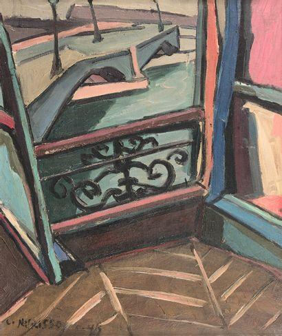 LOUIS NURISSO (né en 1918)  Paris, le pont...