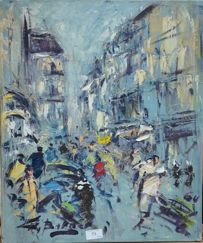 GEORGES BERGER (1908-1976)  Rue de Paris...