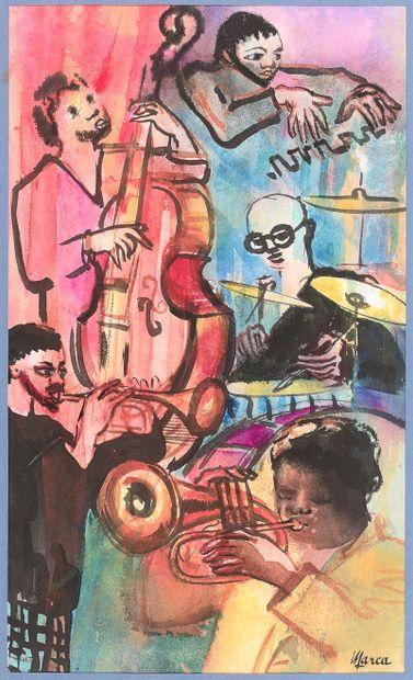 RENÉ EMMANUEL MARCA (1893-1962)  Orchestre...