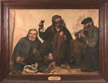 JEAN-AMÉDÉE GIBERT (1869-?)  Gueux en ribote,...
