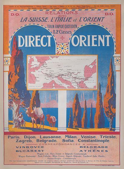 约瑟夫-平川(1871-1953)  直通车的特殊广告海报  巴黎Maulde et...