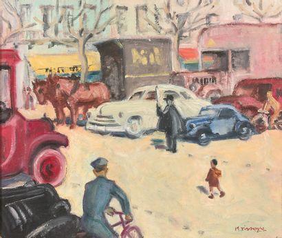 MAURICE TISSEYRE (1920-2017)  Paris, l'embouteillage...