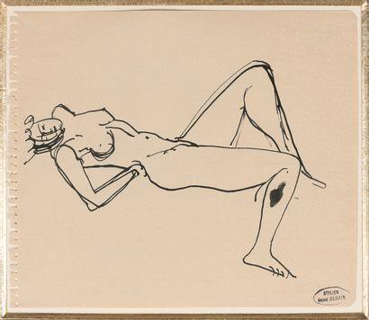 ANDRÉ DERAIN (1880-1954)  Nu féminin allongé...